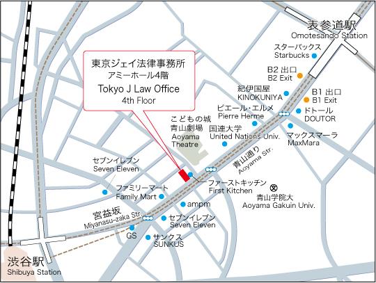Tokyo J Law Office Map